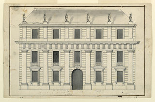 Drawing, Project for the elevation of a town mansion, ca. 1750–75