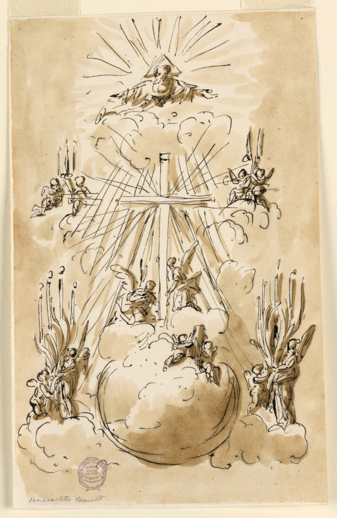 Drawing, Decoration for a church