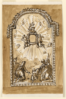 Drawing, Frame for small devotional picture