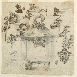 Drawing, Designs for Silver Tureen
