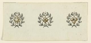 Drawing, Three Pendants, 1820–30