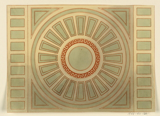 Drawing, Design for Ceiling, 1815–22
