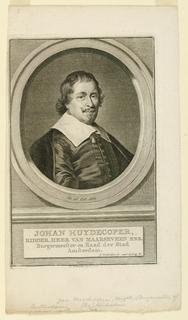 Print, Portrait of Johan Huydecopper ( -1661)