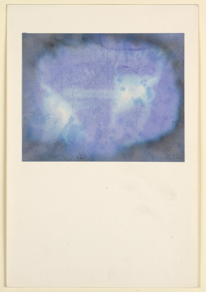Drawing, Composition in Blue and Violet, 1930