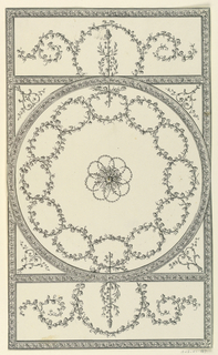 Drawing, Ceiling with Interlocking Garlands, 1815–22
