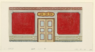 Drawing, Design for Wall with Doorway, probably for the Ante Room, Royal Pavilion, Brighton