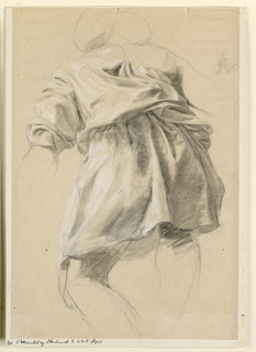 Drawing, Drapery Study, 19th century
