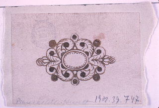 Drawing, Design for brooch, 1820–30