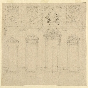 Drawing, Section of the Portico, Santa Maria Maggiore, Rome,  Italy