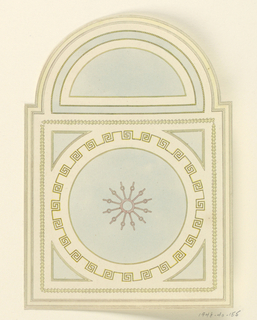 Drawing, Ceiling with Semi-circular End Panel