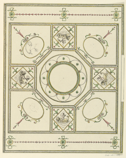 Drawing, Ceiling Design, 18th century