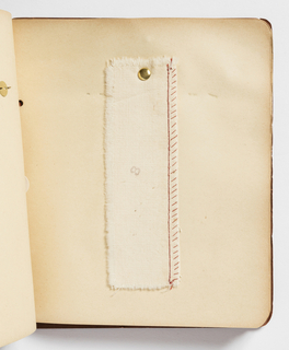 Sewing sample book and certifate of completion.