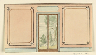 Drawing, Elevation of Side Wall, 1815–22