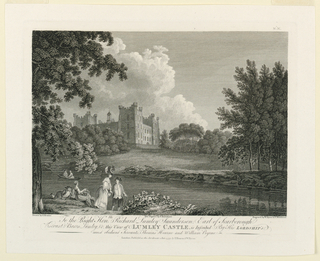 Print, View of Lumley Castle, 1779