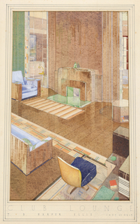Drawing, Design for a Club Lounge, ca. 1933