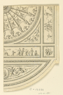 Drawing, Quarter Section of Painted Ceiling, ca. 1775