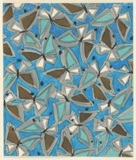 Drawing, Textile Design: Butterflies