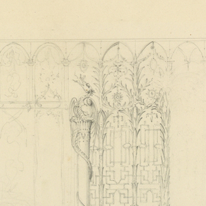 Drawing, Design for Wall Decoration for the South Wall of the Entrance Hall, Royal Pavilion, Brighton