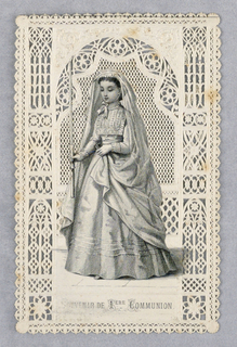 Ephemera, cut decorated card, ca. 1900