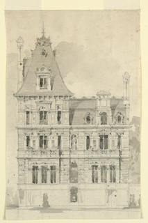 Drawing, Mansion for Lady Alford, N. Elevation, ca. 1870
