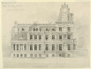 Drawing, Mansion for Lady Alford, E. Elevation, ca. 1870