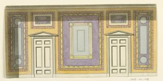 Drawing, Wall Elevation, 1815–22