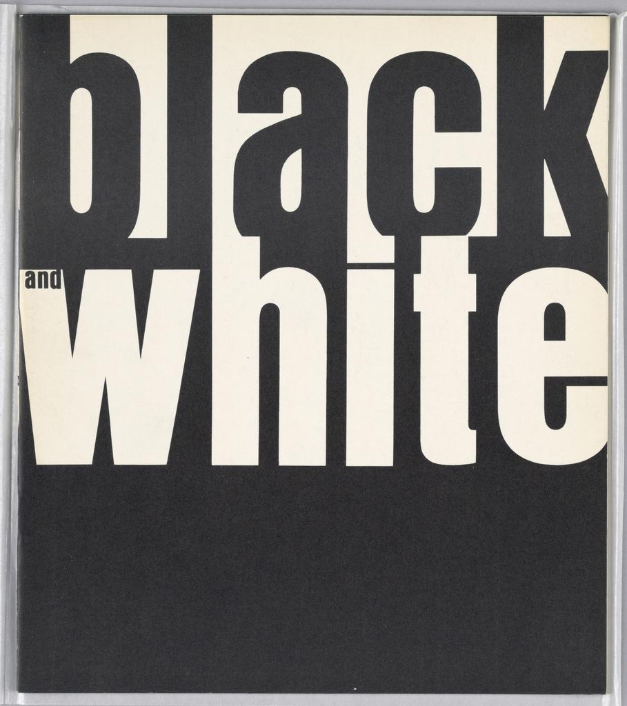 Book, Black and White