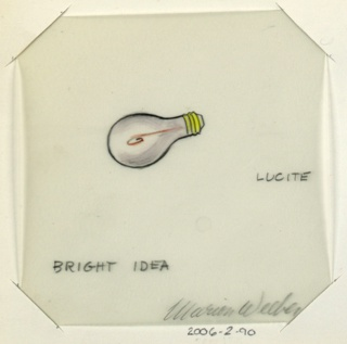1 drawing on vellum of light bulb.  In folder with 6313.139.2000