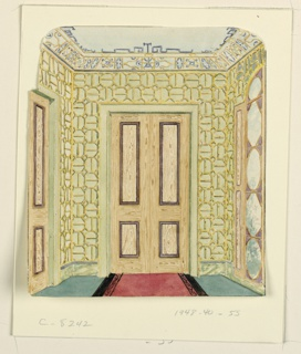 Drawing, Design for Lobby, Possibly the Ante Room to the Music Room