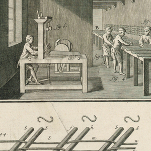 """Print, Plate I of """"Travail et emploi du coton"""" from Diderot's Encyclopedia, Vol. I"""