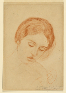 Drawing, Head of a Woman, 1870–90