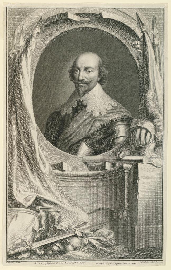 Print, Portrait of Robert Bertie, 1st Earl of Lindsey