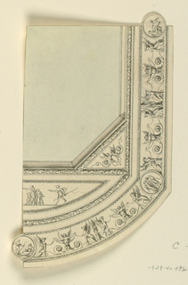 Drawing, Qiarter Section of Painted Ceiling, ca. 1775
