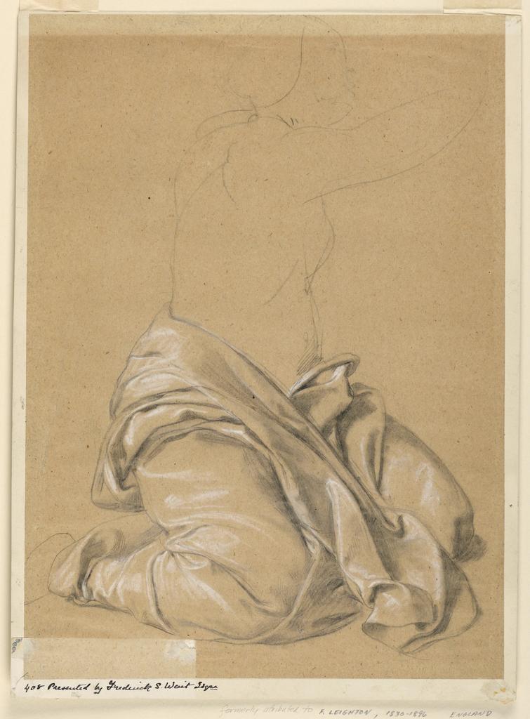 Drawing, Drapery Study, 19th century