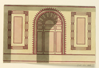 Drawing, Side Wall with Arched Niche, 1815–22