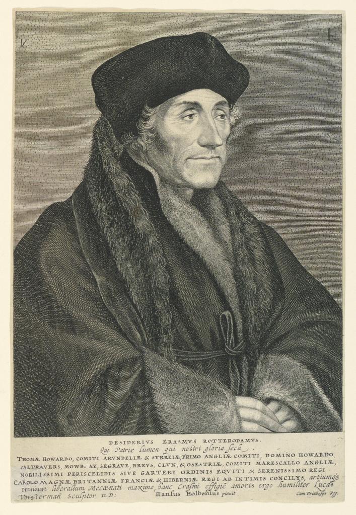 Print, Portrait of Desiderius Erasmus