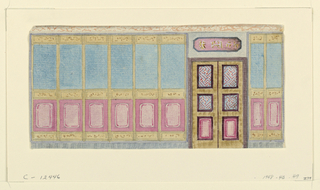 Drawing, Design for Wall with Doorway, possibly for Library, Royal Pavilion, Brighton