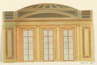 Drawing, Side Wall Elevation, 1815–22