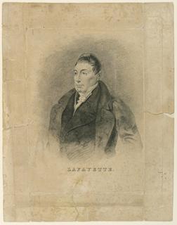 Print, Portrait of Marquis de Lafayette