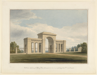 Drawing, Entrance gateway to Willey Park, Shropshire, 1825