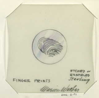 1 drawing on vellum: finger print.  In folder with 6313.138.2000