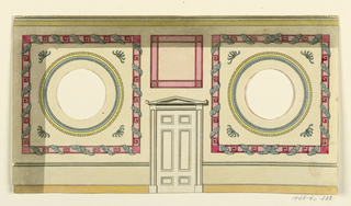 Drawing, Side Wall with Doorway, 1815–22