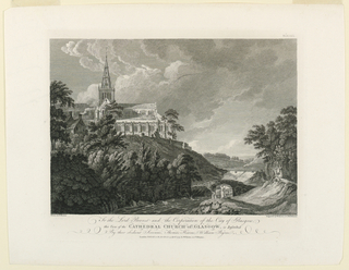 Print, View of The Catherdral Church of Glasgow, 1779
