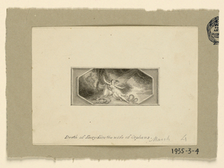 Drawing, Death of Eurydice, wife of Orpheus, ca. 1830