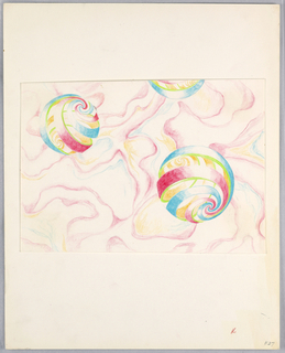 Drawing, Textile Design, 1973–76
