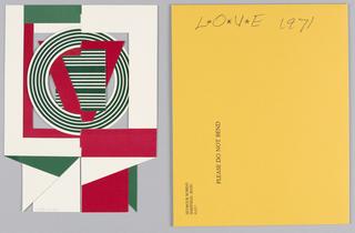 Card, L+O+V+E, 1971