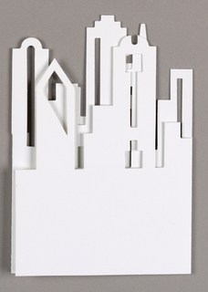 Cut-out of downtown Dallas skyline