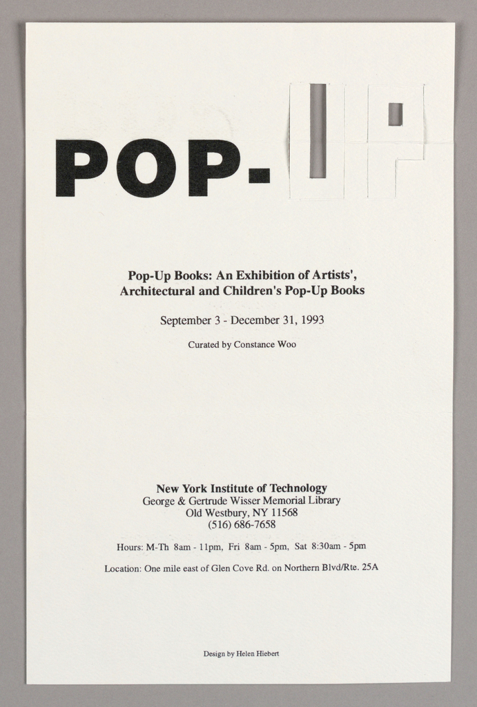 Pop Up Card Invitation To Exhibit Objects Collection Of