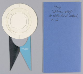 Card, Variations on Architectural Themes 1, 1966