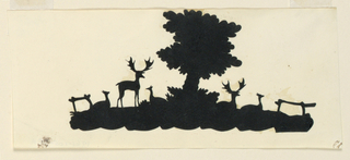 Tree with stags and roe.
